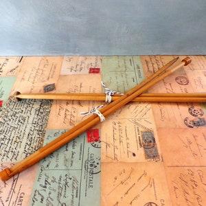 Vintage Wooden Knitting Needles
