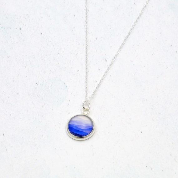 Ombre Blue Mountains Necklace