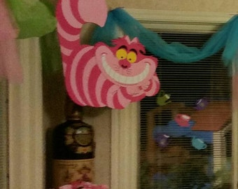Cheshire cat/ alice in wonderland/ party decoration/ wall hanging/ room decoration