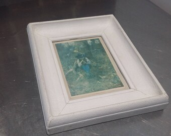 Chunky Vintage Painted glazed Frame on Wooden Carcass