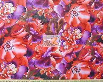 """Garden Beauty 100% Cotton Fabric - 60"""" Width Sold By The Yard (FH-1746)"""