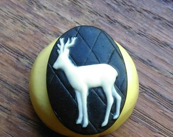 Cameo Cabochon Mold, DEER Cameo,  Silicone push mold for resin, polymer clay, sugar craft- food safe, non toxic