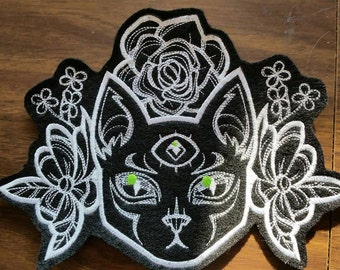 Cat patch,3 eyed cat