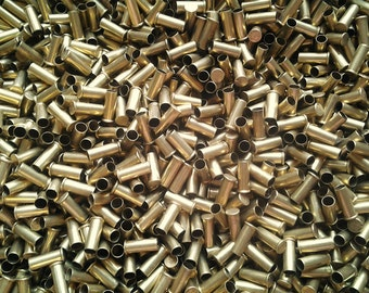 500 CASINGS WHOLESALE! Brass Bullet Casings .22 Caliber Empty Spent Ammo Shells. Makes Cute Steampunk Jewelry, Earrings, Pendants