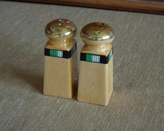 Lusterware Salt and Pepper shakers from Japan