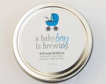 Baby Shower Favor - Baby Boy is Brewing - Tea Shower Favour - Blue Baby Shower Favor - A Baby Boy is Brewing - Celebrating Baby Boy