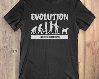 Irish Wolfhound Custom Dog T-Shirt Gift: Irish Wolfhound Evolution
