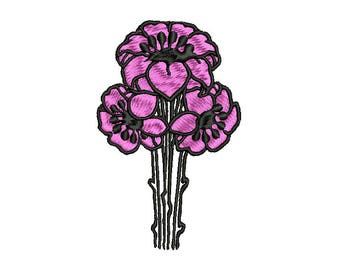 BOUQUET OF FLOWERS - machine embroidery design - Instant Download