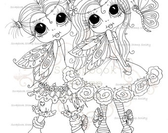 INSTANT DOWNLOAD Digi Stamps Digital Stamps My Besties Wee Winged Best Friends By Sherri Baldy
