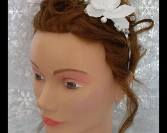 very nice headband with a white Orchid