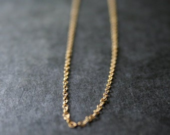 Delicate Gold Necklace Simple Chain Necklace