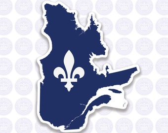 Quebec Decal - Flag of Quebec Decal - Provincial Flag of Quebec Bumper Sticker - Canadian Province of Quebec Decal - Quebec Fleurdelis