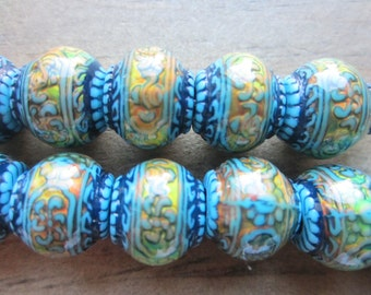 Mood Bead Mirage Bead Polymer Clay Bead Heat Sensitive Bead Blue Mystique 12.5mm x 11mm  QTY 1