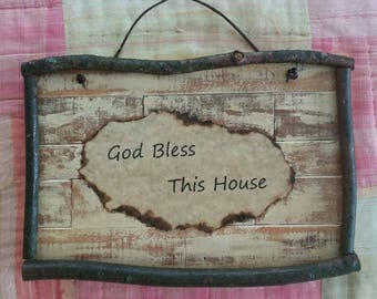 God Bless This House Rustic Art