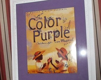 The Color Purple Sign Cast Musical Poster