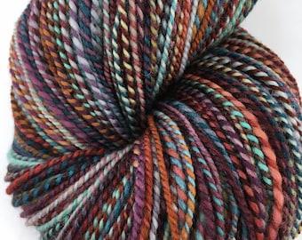 "Handspun Sport Yarn ""Flowerbox"" 480 yds Large Skein"