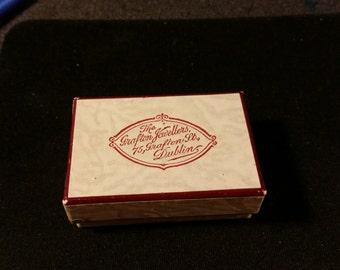 Tiny Irish Vintage Jewelry Box 1800's