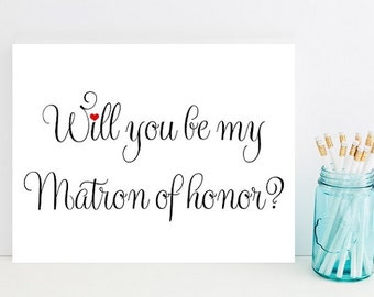 Will you be my matron of honor- Card for wedding - Card for matron of honor - Wedding party - Wedding Cards - bridesmaids - Wedding