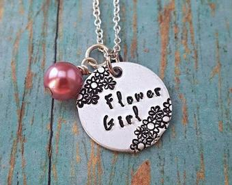 Flower Girl Necklace - Flower Girl Gift - Flower Girl Jewelry - Flower Girl - Wedding Jewelry - Wedding Party - Wedding - Child Necklace