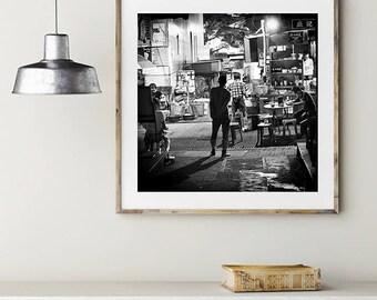 Black and white photography,Hong Kong photograph,Hong Kong food stall photography,Hong Kong fine art photography,Black and white art print
