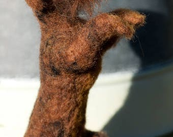 Wire Haired Dachshund - Needle Felted, One Of A Kind, Hand Made - now sold
