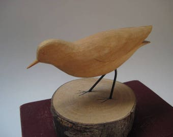 Vintage Ron Kennedy Carved Wood Sandpiper 1984
