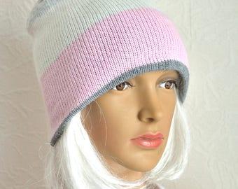 Hand made 100% cashmere women's hat