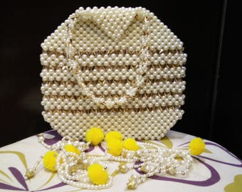 Pearl Octagon Small  Purse