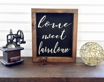 Home Sweet Farmhouse Sign | Farmhouse Style | Farmhouse Decor | Farmhouse Sign | Rustic Decor | Rustic Wood Sign | Gift for Her | Gift