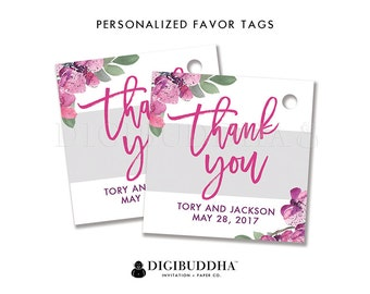 FAVOR TAGS Bridal Shower Favor Tag Thank You Tag Baby Shower Favor Tag Label Tags Gift Tag Wedding Favor Tag DIY Printable or Printed - Tory
