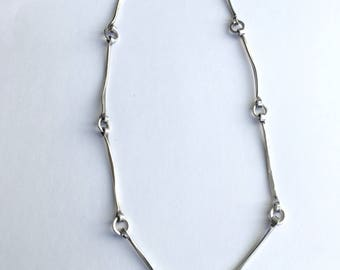 Sterling Silver Link Necklace,Classic Silver Necklace,  Daily Driver, Jill Griffin