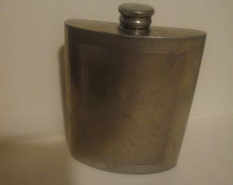 Vintage Sheffield English Pewter Flask 6oz Made In England