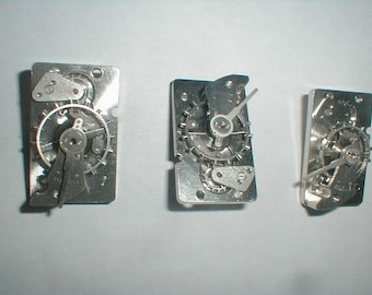 5 used for parts 11 jeweled clock escapement for steampunk or art