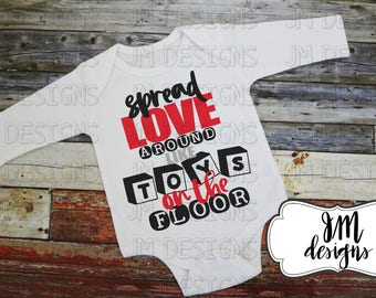 Spread Love, Onesie, Shirt, Valentines Day, Gifts for Her, Gifts for Him