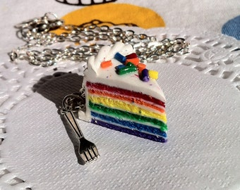 Rainbow Cake Necklace