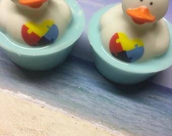 Autism Kids  Duck Soaps,Awareness,Bath,Party Favors