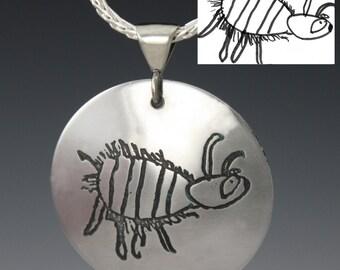 Custom Memory Jewelry: Your Art Etched Jewelry, Personalized Jewelry - Handwriting Jewelry