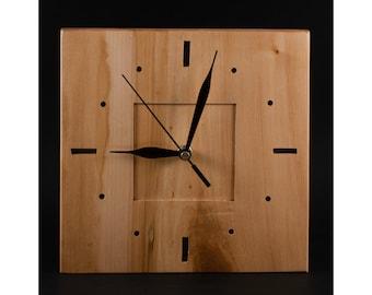 Wood clock, unique wall clock decor, office clock, kitchen wall clock, housewarming Gift
