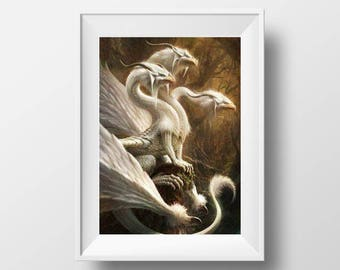white dragon cross stitch pattern fantasy cross stitch pdf mother of dragon xstitch fairy cross stitch dmc magical cross stitch gothic