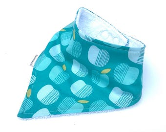 Apple Dribble Bib - Baby Bib - Bandana Bib - Drool Bib - Baby Girl Bibs - Drool Bandana - Toddler Bibs - Newborn Baby Bibs For Girls