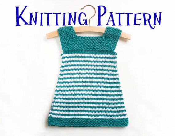 PDF Knitting Pattern - Daisy, Baby Dress, Infant Sun Dress, Sizes 3m ...