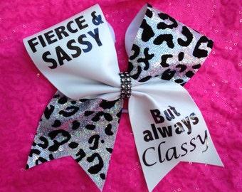Big cheer bow- Fierce and Sassy!