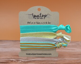 Hair Tie Display Cards for Packaging Retail | 48 CARDS | Wrap Bracelets | Necklaces| HOLDS 4 Ties | DS0133