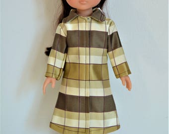 "Handmade Doll Clothes Coat fits 13"" Corolle Les Cheries Dolls Christmas I"