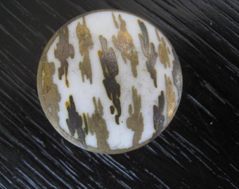 antique button 26 mm opaline glass french collection