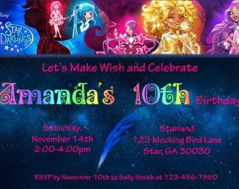 Star Darlings Disney Book Birthday Party Invitation
