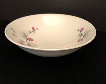 Canonsburg Wild Clover Serving Bowl by CANONSBURG Steubenville SKYLINE/WILD Clover Steubenville - Wild Clover Pattern /Pink Pinecone
