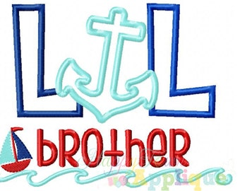 Nautical Lil Brother Machine Embroidery Design