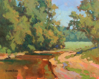 Down River Summer – Original Small Oil Painting