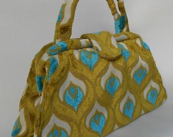 Peacock Chenille Retro Bag